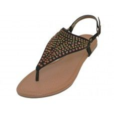 18 of Women's Studed Thong Sandals (*black Color )