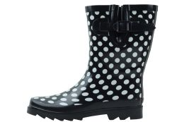 12 of Ladies' Rubber Rain Boots (9 Inches Tall)