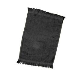 240 of Fingertip Towel Fringed Ends In Black