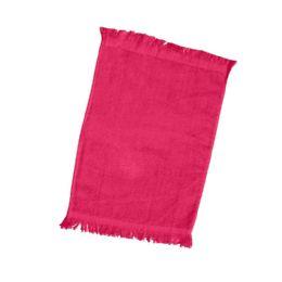 240 of Fingertip Towel Fringed Ends In Hot Pink