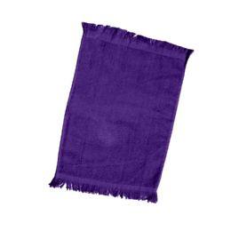 240 of Fingertip Towel Fringed Ends In Purple