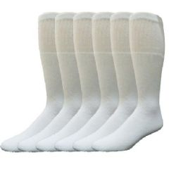180 of Yacht & Smith 31 Inch Men's Long Tube Socks, White Cotton Tube Socks Size 10-13