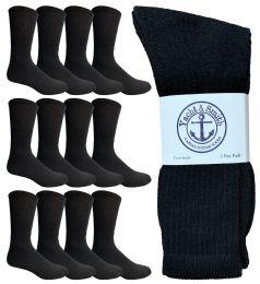 12 of Yacht & Smith Men's King Size Cotton Crew Socks Black Size 13-16
