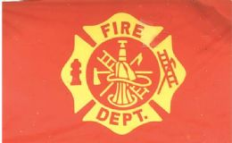 24 of Fire Department Flags