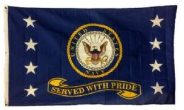 24 of Licensed Us Navy Flags Served With Pride