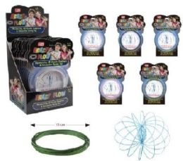 36 of Flow Rings Kinetic Spring Toy Glitter--Display Box