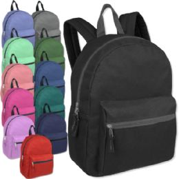 24 of 15 Inch Basic Backpack - 12 Colors