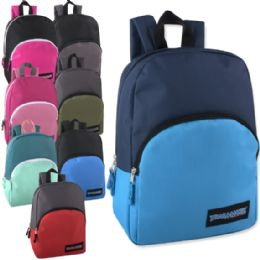 24 of 15 Inch Promo Backpack - 8 Color Assortment