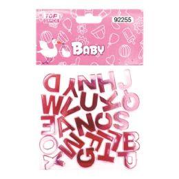 144 of Twenty Six Count Alphabet Baby Pink