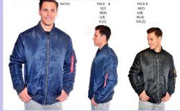 12 of Men's Fashion Flight Jacket In Blue