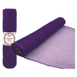 96 of Tulle Fabric Roll Purple
