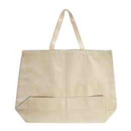 96 of Jumbo 12 Ounce Gusseted TotE-Natural