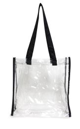 50 of Clear Tote BaG- Clear/black