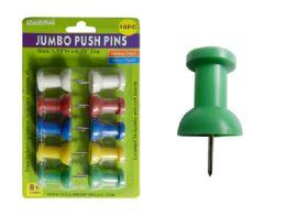 96 of 10pc Jumbo Push Pins