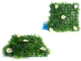 48 of Grass Blade Mat With Flowers