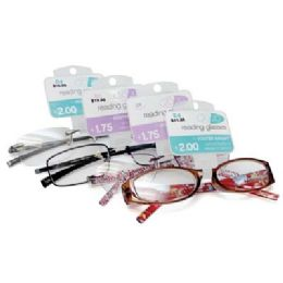 100 of Foster Grant Reading Glasses Medium Power Assorted Styles