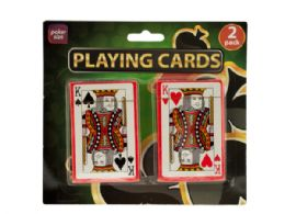 72 of Plastic Coated Poker Size Playing Cards Set