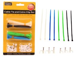 96 of 120 Pieces Cable Ties & Cable Clip