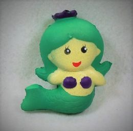 12 of Slow Rising Squishy Toy Green Mermaid
