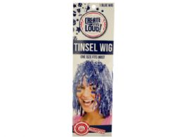 72 of Blue Tinsel Wig