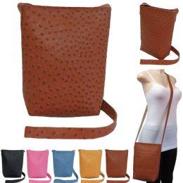 36 of Large Faux Ostrich Cross Body Bucket Bag