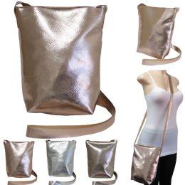 36 of Large Metallic Cross Body Bucket Bag
