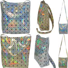 36 of Large Holographic Geometric Print Cross Body Bucket Bag.