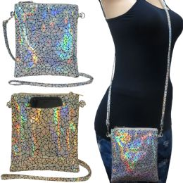 36 of Holographic Cross Body Bag With A Back Pocket To Fit Any Size Cell Phone