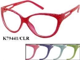48 of Kids Plastic Frame Eye Glasses Assorted Color