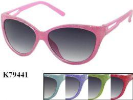 48 of Kids Plastic Frame Sparkle Sun Glasses Assorted Color