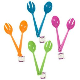 72 of 2pc 11.5inl Serving Spoon Set In 4asst Summer Clrs/plastic/ht