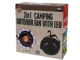 6 of 2 In 1 Camping Outdoor Fan With Led Light