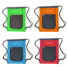 24 of Drawstring Bags In 4 Assorted Colors