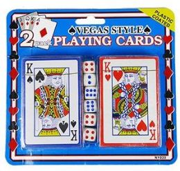 36 of 2 Pack Vegas Style Playing Cards & Dice