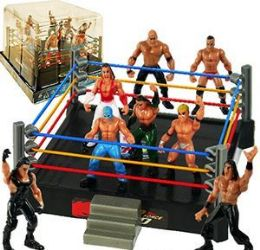 12 of 8 Piece Wrestlers And Arena