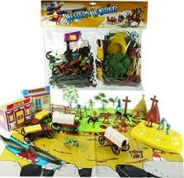 6 of 90 Piece Western Warrior Play Sets