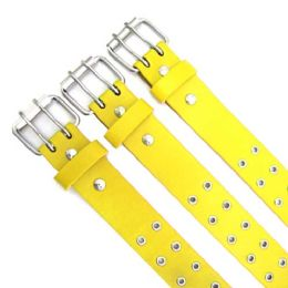 48 of Yellow Double Hole Belt