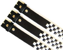 48 of No Buckle Studded Black & White Belt