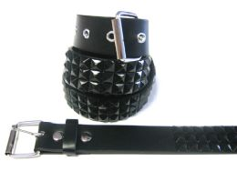 48 of Pyramid Studded Black Belt
