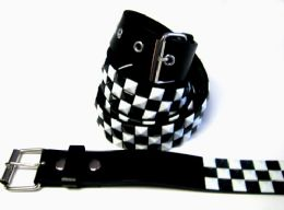 48 of Pyramid Studded Black & White Belt