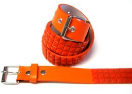 48 of Pyramid Studded Orange Belt