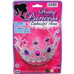 "96 of 5.5"" Pretty Princess Tiara Tied On Card"