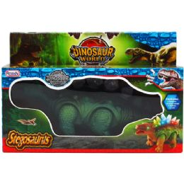 "24 of 10"" B/o Dino. Stegosaurus In Pegable Window Box. 2 Assrt"