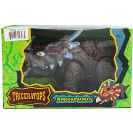 """12 of 14"""" B/o Dino Triceratops In Window Box, 2 Asst Colors"""