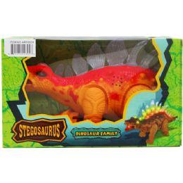 "12 of 14"" B/o Dino Stegosaurus In Window Box, 2 Assorted Colors"