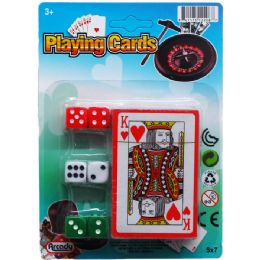 96 of Single Deck Playing Cards W/6pc Dice On Card