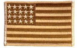 36 of **as Is*** Brown Camo Us Flag With ***20 Stars Only