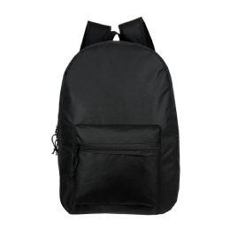 """24 of 15"""" Kids Basic Black Backpacks"""