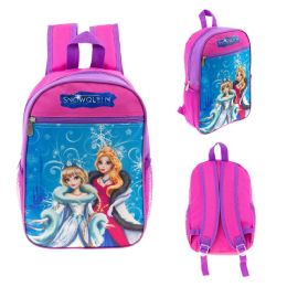"""24 of 13"""" Character Backpacks In A MultI-Color Snow Queen Print"""