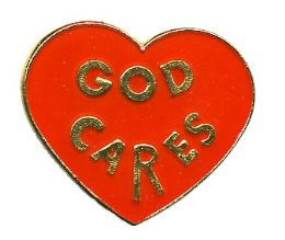 "96 of Brass Hat Pin, ""god Cares"","